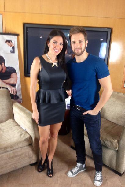 Maity Interiano después de su entrevista con Pablo Alborán.