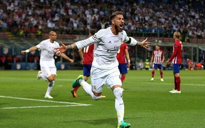 Sergio Ramos volvió a celebrar un gol en Champions