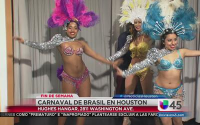 Carnaval de Brasil en la calle Washington de Houston