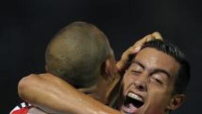 Carlos Luna marcó el segundo gol de River, el del triunfo ante Belgrano,...