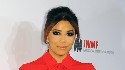 Eva Longoria en el International Women's Media Foundation Courage Awards.