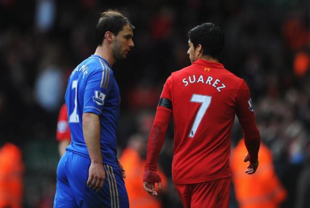 Suárez se pasó gran parte del partido en su pique personal con Branislav...