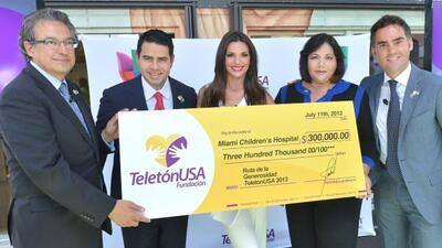 Se entregó el primer donativo de Teletón USA al Miami Children´s Hospital.