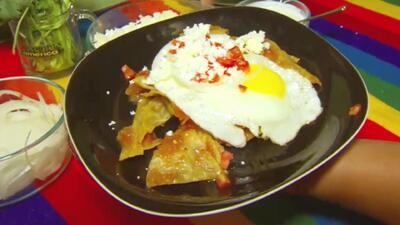 Maity desayunó Chilaquiles Rancheros con la Familia Manríquez