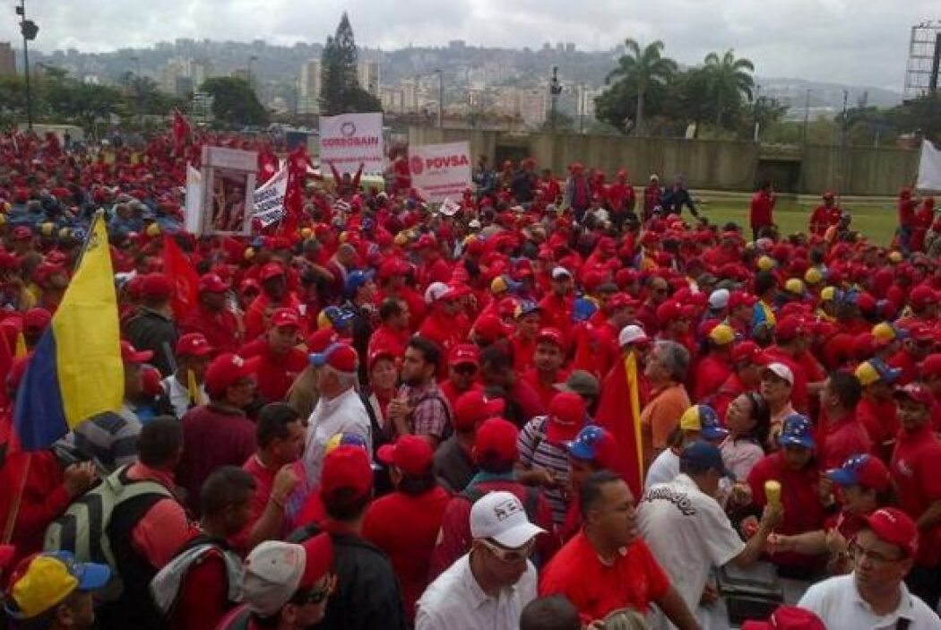 Cientos de trabajadores públicos llevaron pancartas en apoyo a la marcha...
