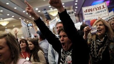 Seguidores de Donadl Trump en Carolina del Sur