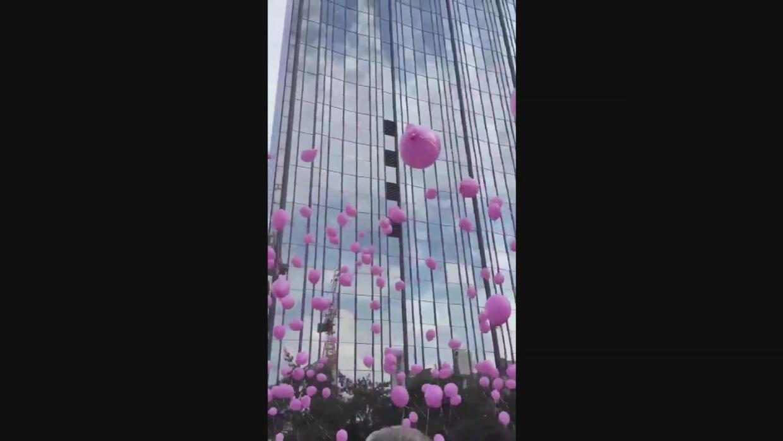Cómo unos globos rosados se convirtieron en un símbolo de resistencia al...
