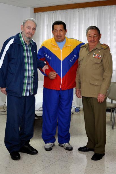 La única imagen de Chávez desde entonces se produjo cuando el gobierno c...