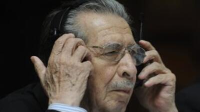 El exdictador guatemalteco Efraín Ríos Montt.