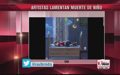 Muerte del niño sirio conmueve a artistas