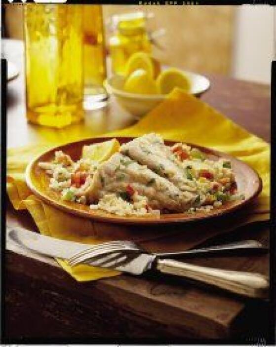Huachinango con salsa de tomates y pimientos salteados: Si te gusta el p...