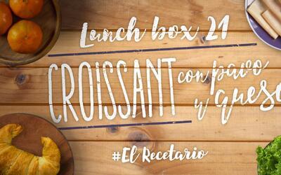 Croissant de pavo (Día 21) - 23 ideas para lunch boxes #ElRecetario