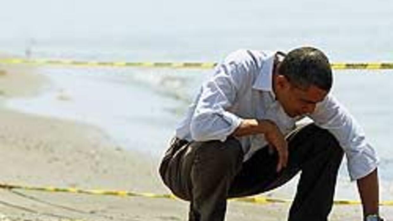 Obama se arriesga al ponerse al frente del derrame de petróleo en el Gol...