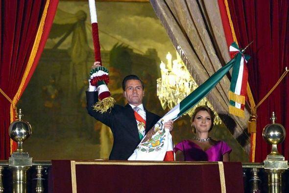 """Este fue el segundo festejo del """"Grito"""" encabezado por el presidente Enr..."""