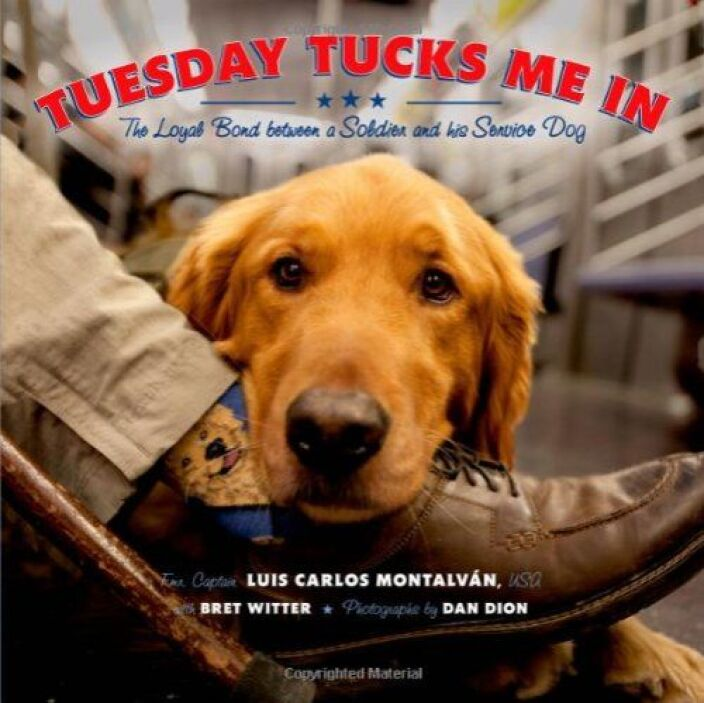 TUESDAYS TUCK ME IN - Tuesday es un perro de servicio para Montalván, qu...