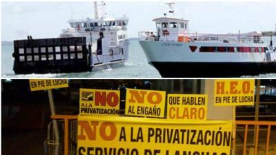 Protestan por supuesta privatización de los servicios de transpor...