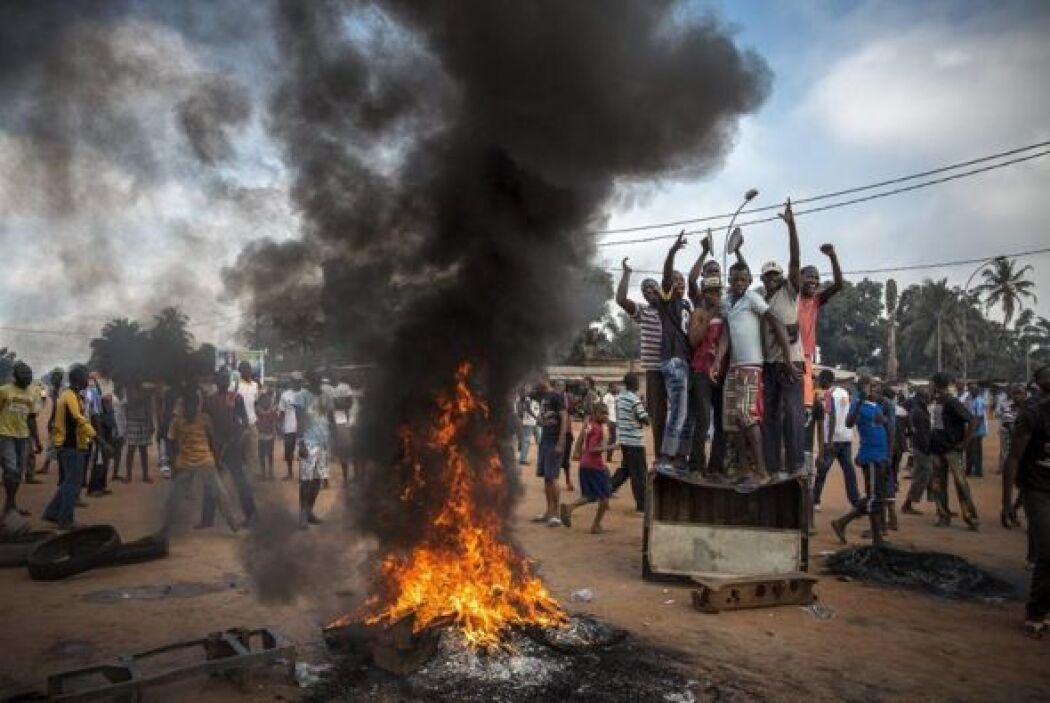 """Una foto de la serie, """"El caos en la República Centroafricana"""", que mues..."""