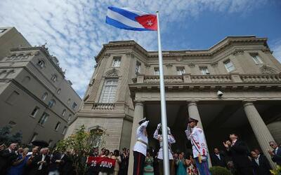 Reapertura de la embajada cubana en Washington.
