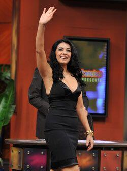 Graciela Beltrán llegó muy sonriente a Don Francisco Presenta.