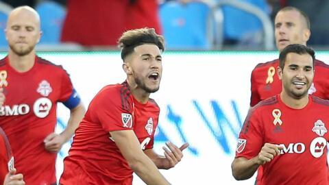 Toronto FC celebra un gol ante Philadelphia Union