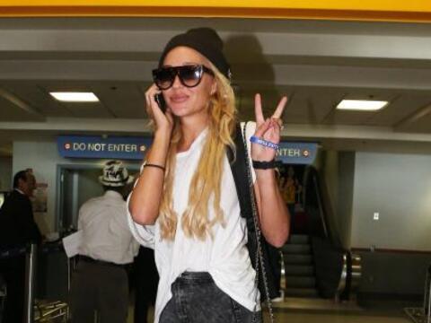 Así llegó Amanda Bynes al aeropuerto de Los Ángeles...
