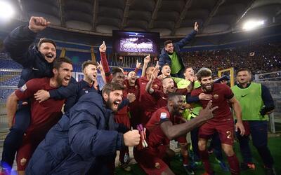 La Roma venció 2-0 al Lazio