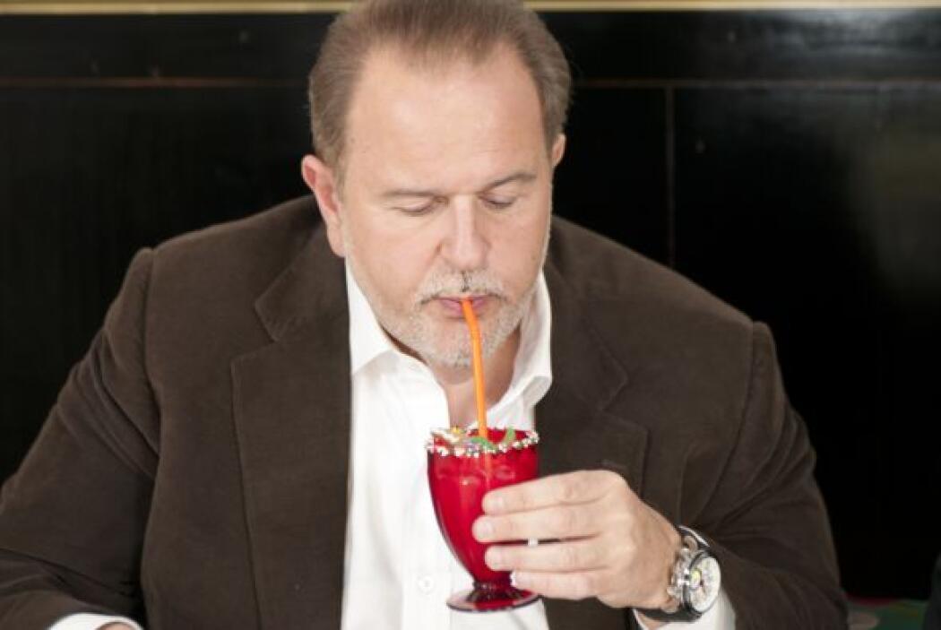 Un detalle encantador del restaurante es que el agua para los hombres ti...