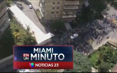 'Miami en un Minuto': miles de venezolanos se tomaron las calles de ese...