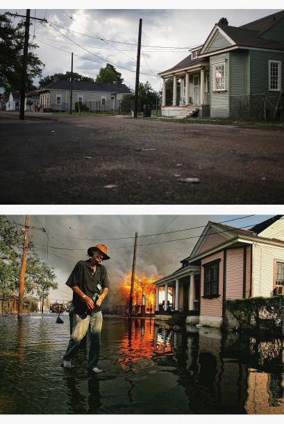 Hace 10 años,  Robert Fontaine caminaba junto a un incendio en una casa...