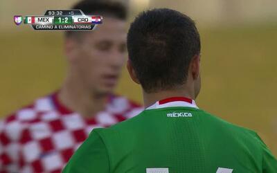 Pase de Andrés Guardado,que marca el gol