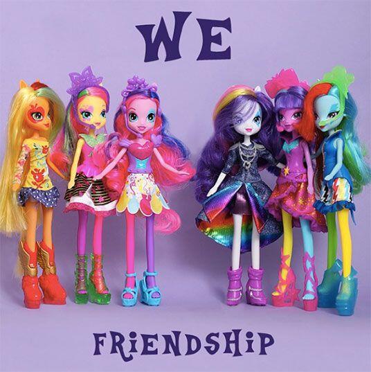 Las chicas Equestria. Las muñecas de las mejores amigas de los ad...