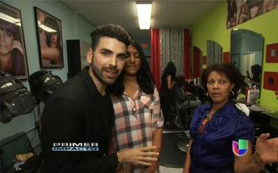 Jomari Goyso se coló esta semana a un salón de belleza dominicano en Los...