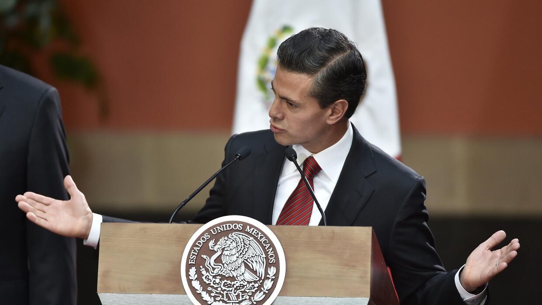 El celebrado copete del presidente Peña Nieto.