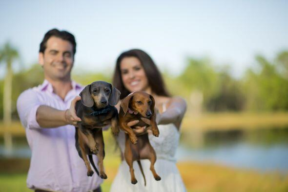 Una foto espectacular con sus dos pequeños 'hijos', que sin duda...