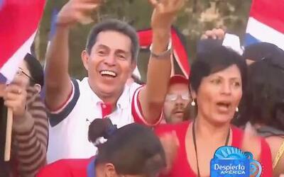 Costa Rica celebra su paso a cuartos de final en el Mundial