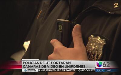 Policías de Universidad de Texas utilizarán cámaras en sus uniformes