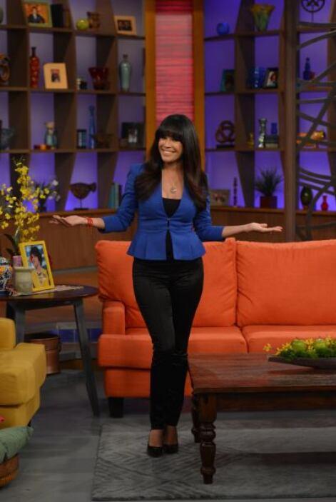 La primera en dar la bienvenida al set de Despierta América fue Karla.