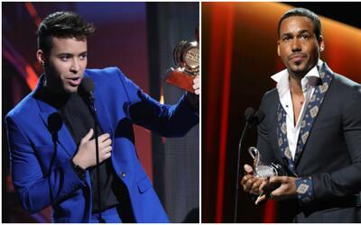 Prince Royce considera un honor haber entregado su premio a Romeo Santos