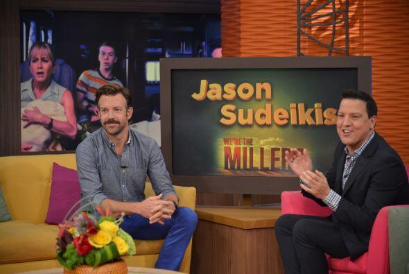 """El actor llegó para hablar de su nueva cinta """"We're the Millers""""."""