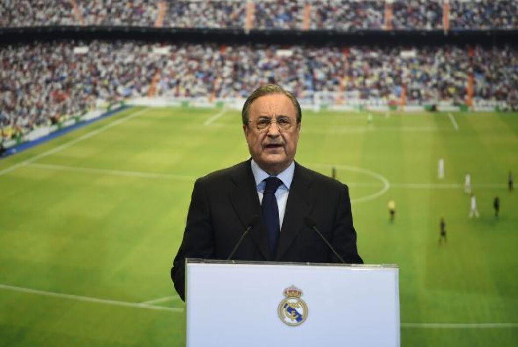 Florentino Pérez, presidente del Real Madrid, fue el encargado de presen...
