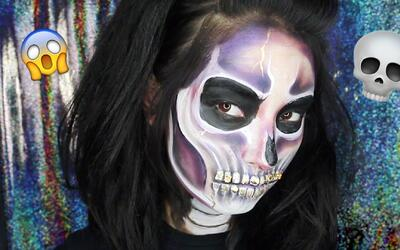 Laura Sánchez te muestra paso a paso a maquillarte de calavera para Hall...