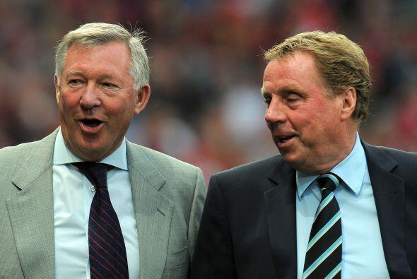 Previo al partido, los técnicos Alex Ferguson y Harry Redknapp pl...