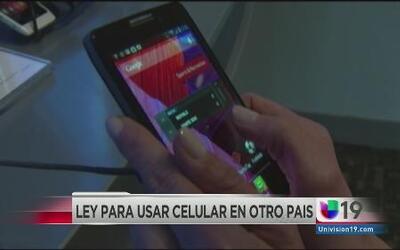 Analizan apribación de ley para usar celulares fuera del país