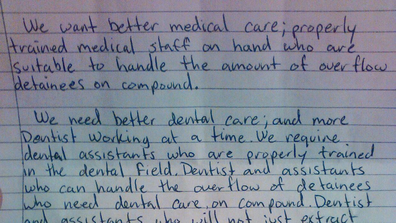 La carta con las demandas.