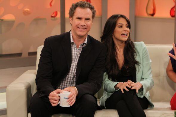 Will Ferrell y Génesis Rodríguez en Despierta América