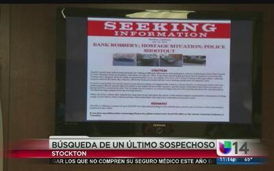 Continúa la búsqueda del último sospechoso de robo bancario en Stockton