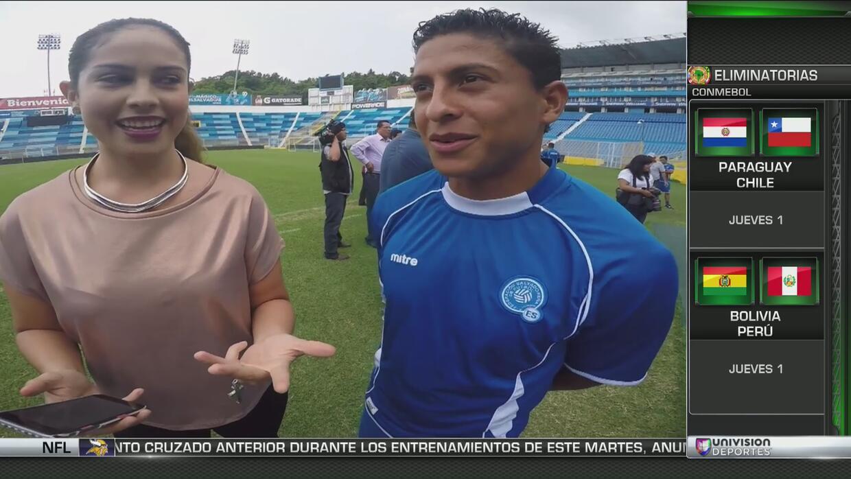 Los jugadores de El Salvador no conocen mucho de sus rivales del Tri