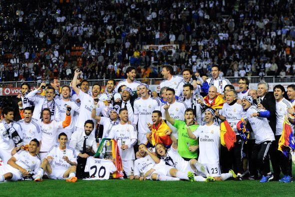 La foto para la historia, Real Madrid campeón de la Copa del Rey...