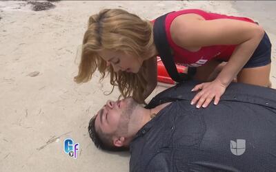 Ximena Córdoba empezó un nuevo trabajo como salvavidas