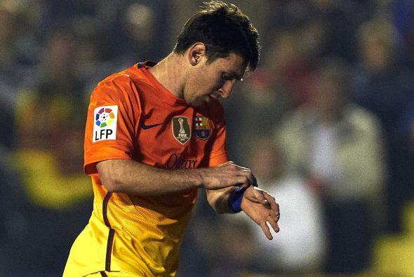 El argentino lució en su muñeca un brazalete con una frase...